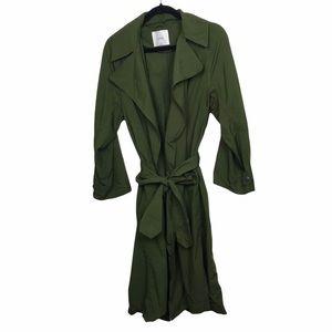 Aritzia Wilfred Requiem Green Trench Coat
